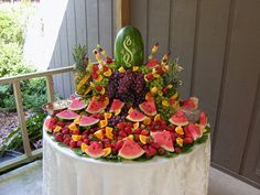 images of displays of reception food | Fruit and Cheese Display.JPG ...