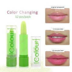 Lipstick 1pc Moisturizer Sexy Icy Colors Lipstick Makeup Waterproof Long Lasting Color Changed Jelly Lipsticks Peach Baby Lip Care Balm Selected Material