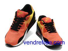 new style 79b43 7bcdb Vendre Pas Cher Homme Chaussures Nike Air Max 90  (couleurblanc,noir,rouge,orange) en ligne en France.