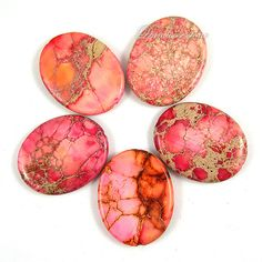 Nice Red Emperor Stone Oval Loose Beads 30x40mm-10pcs Strand