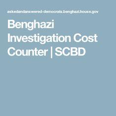 Benghazi Investigation Cost Counter | SCBD