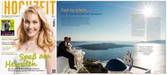 Die Traumhochzeit auf Santorini von Patrizia & Jens ist im aktuellen HOCHZEIT Magazin 2/2015! Hochzeitsplaner Eva Hauser, Wedding & Events GmbH. Foto Philippe Wiget-Wedding Photographer