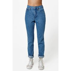 mom jeans at PacSun.com (£42) ❤ liked on Polyvore featuring jeans, blue jeans, pacsun and pacsun jeans
