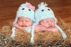Baby Bluebird Earflap Hat by britt6934 on Etsy, $30.00