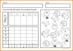 Math Worksheets & Activities - Autumn (Beginning Skills). A page from the unit: Count, Tally and Graph