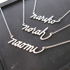 Custom name necklace - and short names cost less! score