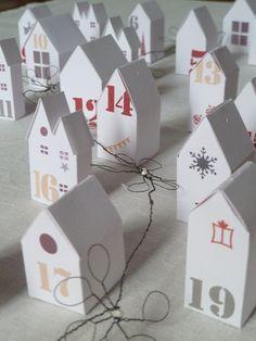 Advent calendar houses | L'Art de la Curiosité