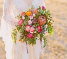protea ranunculus bouquet