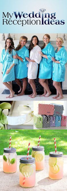 From personalized robes to engraved glassware, your bridesmaids will appreciate functional gifts. A set of personalized mason jar glasses or stemless wine glasses will make a welcome thank you gift that will be used in the home for years to come. An engraved bracelet is another gift your maid of honor and bridesmaids are sure to treasure. An affordable and useful bridesmaid gift idea is a chic cosmetic travel bag - each one engraved with your bridesmaids' names.