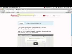 Chrome: How to Install Pin It Bookmarklet via @Pinterest