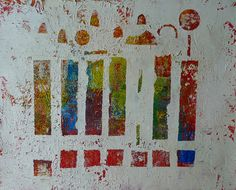 Original Abstract Handmade Oil Painting on by ARcoTexturePaintings