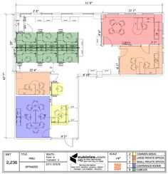 office furniture floor plan for a small office. #cubiclelayout