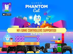 Bright,Colorful,Bouncy retro platforming feline based action with great MFi controller support