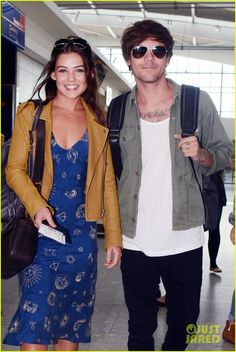louis tomlinson danielle campbell heathrow airport after wedding 01