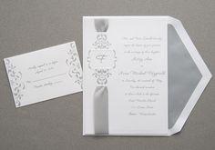 Ribbon Wedding Invitations by  THE MACKEY HOUSE