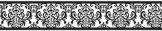 Black and White Isabella Wall Border   Classic Damask Wallpaper