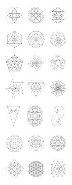 New Tattoo Mandala Geometric Sacred Geometry Art Ideas Geometric Lines, Geometric Designs, Geometric Mandala, Geometric Shape Tattoo, Trendy Tattoos, Cool Tattoos, Tatoo Symbol, Triangle Symbol, Sacred Geometry Symbols