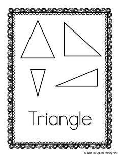 FREE geometry posters (2-D & 3-D shapes, plus geometry vocabulary)!  No frills, just black and white, ink-saving posters.