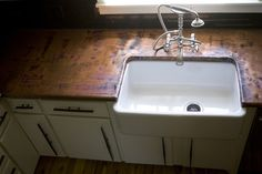 copper countertops-traditional kitchen by Oak Hill Iron