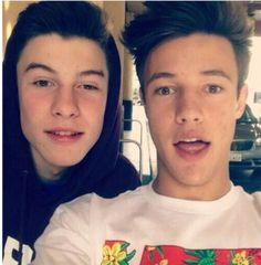 Shawn Mendes and Cameron Dallas