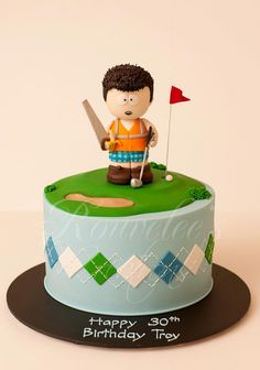 Rouvelees Creations-Golf theme cake with South Park inspired