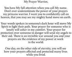 To My Prayer Warrior
