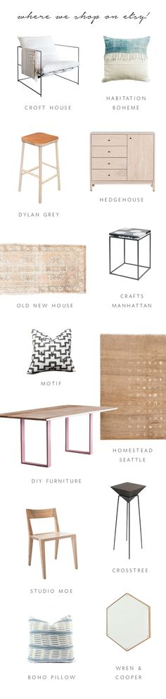 our top shops on @etsy  for interior design | coco kelley #partner