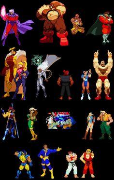 X Men VS Street Fighter by Gothicdarkness on DeviantArt