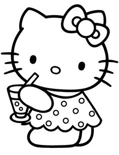 Hello Kitty Coloring in Pages 3