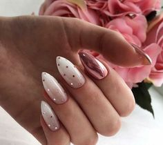 So Cute and Gorgeous Nail Art Designs for Your Big Day #nail#nailart