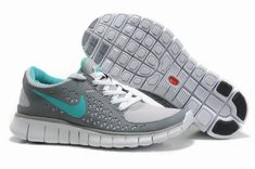 Womens Nike Free Run Gray Navy Shoes