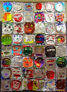 Discussion: Mayan Masks Pattern Tin Art Folk Artists Folk Art Tin work, known in Mexico as hojalata, goes back to the 16th Ce...
