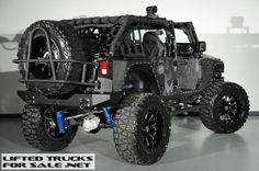 "Lifted 2013 Jeep Wrangler Unlimited Custom Leather Kryptek Typhon Camo ""Night stalker"""