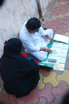 Street Astrologer and Muslim Lady