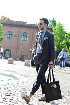 Men's street fashion look