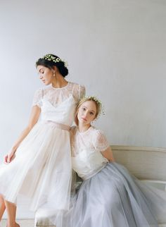 Alexandra Grecco Tulle Skirt and Elliot Blouse - obsessed with this designers tulle skirts and dresses and the lace top.