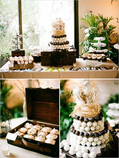 Love the use of the suitcase and the Truffle cake
