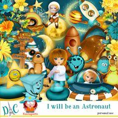 I will be an Astronaut by Kastagnette [kasta_IwillbeAstronaut] - Sticker Paper, Stickers, Kit, 3d Paper, Astronaut, Cartoon, Astronauts, Cartoons, Comics And Cartoons