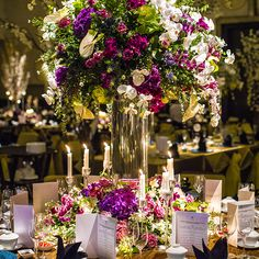 Floral centerpiece! An Enchanted Forest Singapore Wedding at W Hotel Sentosa Cove: Mark and Stephanie