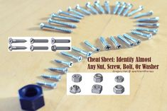 Using the proper specific bolt, nut, washer, and screw type is very critical when working on a wood or metal