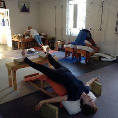 Viparita Dandasana, Adho Mukha Svanasana & Salamba Purvottanasana Pranayama, Yoga Props, Restorative Yoga, Iyengar Yoga, Asana, Yoga Inspiration, Health Fitness, Poses, Workout