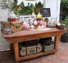 vintage candy lolly buffet