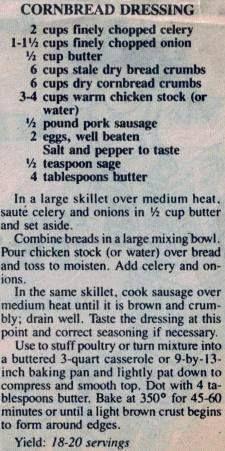 Vintage Cornbread dressing