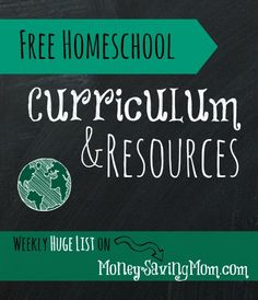 Look at this HUGE list of FREE Homeschool Curriculum & Resources!