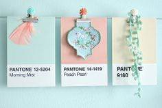 I am a huge fan of Pantone and have been using the various colour systems throughout my career as a fashion designer. So a few years back when I saw they did a box of 100 postcards with a palette draw Soft Colors, Pastel Colors, Colours, Pantone Colour Palettes, Pantone Color, Color Patterns, Color Schemes, Color Combos, Pastel Floral