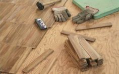 Step by step guide to installing wood flooring by yourself - includes pictures and links to further resources.