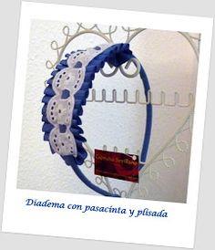 Capricho Sevillano: Diadema con pasamaneria y plisada