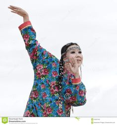 Woman Dance - Dancer Koryak Folk Dance Ensemble Angt (Kamchatka,