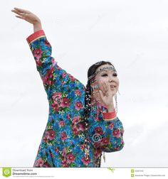 Woman Dance - Dancer Koryak Folk Dance Ensemble Angt (Kamchatka,
