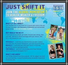 Make 2015 your year and join thousands of others who already said YES to our global life changing challenge to Health, Wealth & Freedom. When I said yes to this program I was 50 lbs heavier than I am now and never felt better! This program is life changing ways so join us in resetting our bodies towards better health!   #transformyourlife #DoYOU #behappy #health #healthylifestyle #healthyliving #weightloss #crushyourgoals #tcnationstrong  #healthyandhappynewyear #guiltfreeholidays…